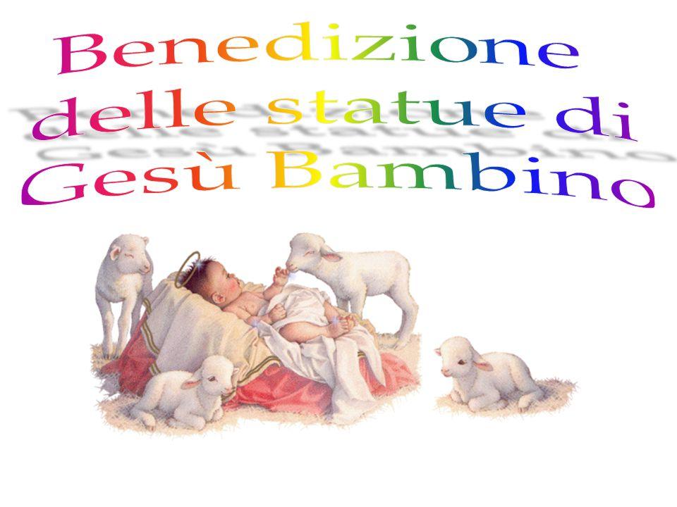 Benedizione delle statue di Gesù Bambino