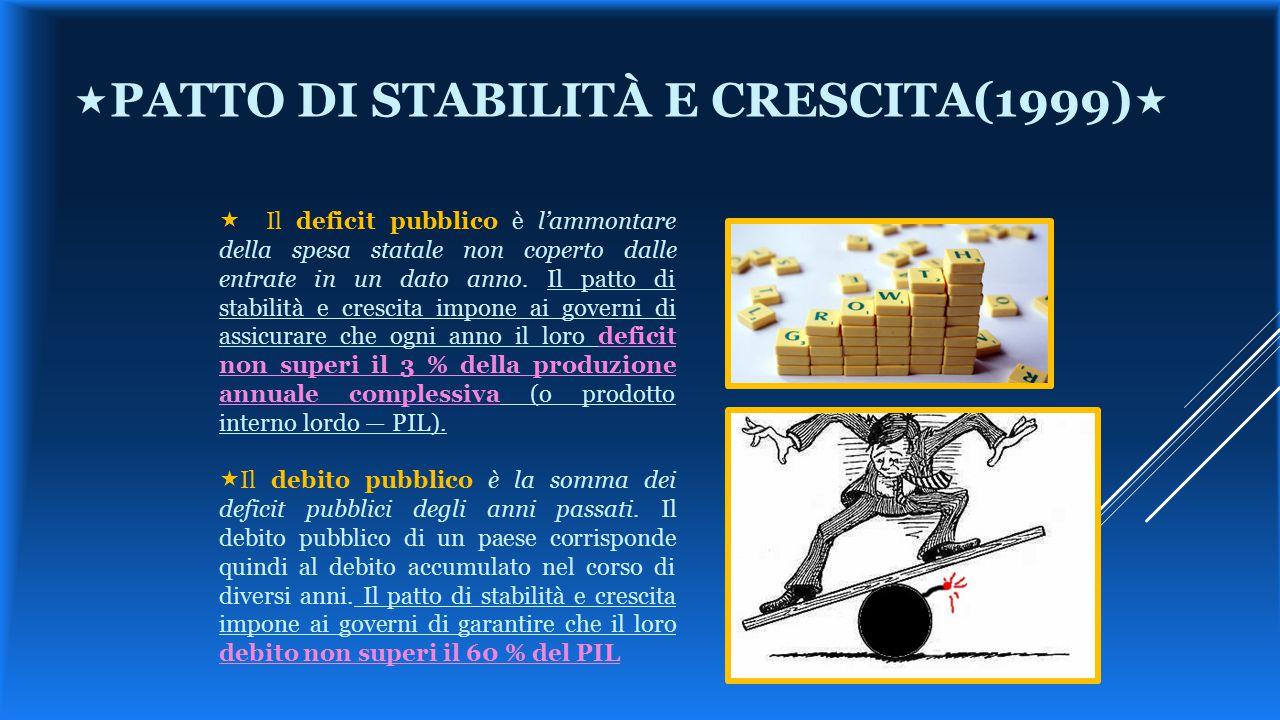 «patto di stabilità e crescita(1999)«