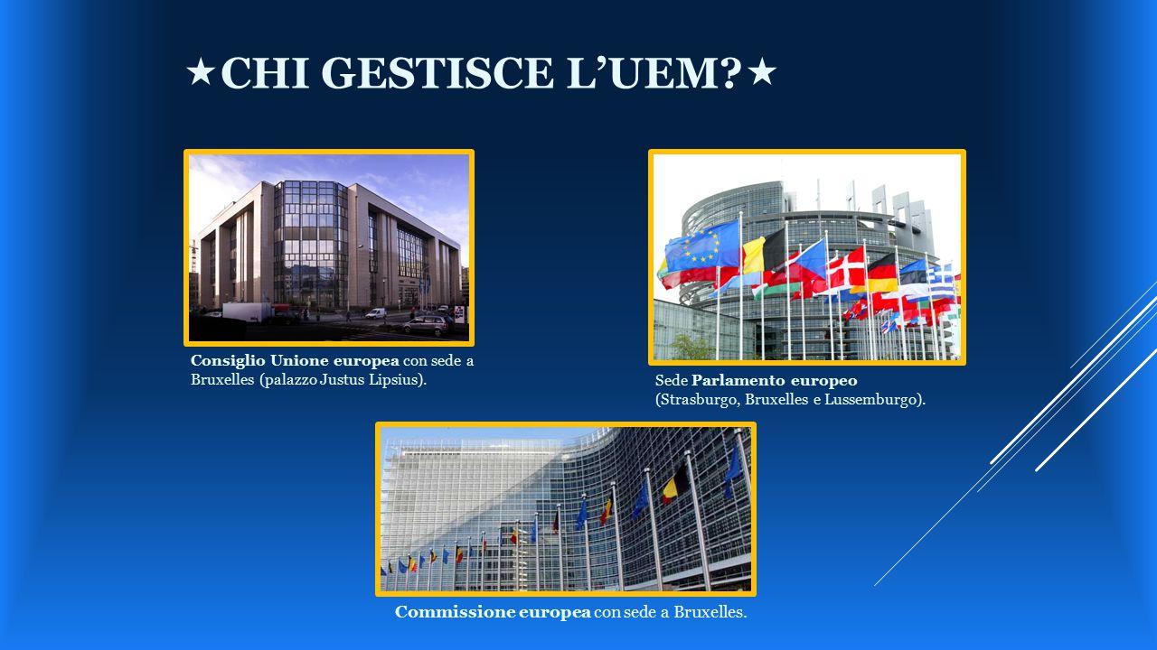 «chi gestisce l'UEM « Commissione europea con sede a Bruxelles.