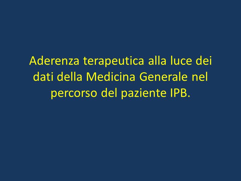 Aderenza terapeutica alla luce dei dati della Medicina Generale nel percorso del paziente IPB.