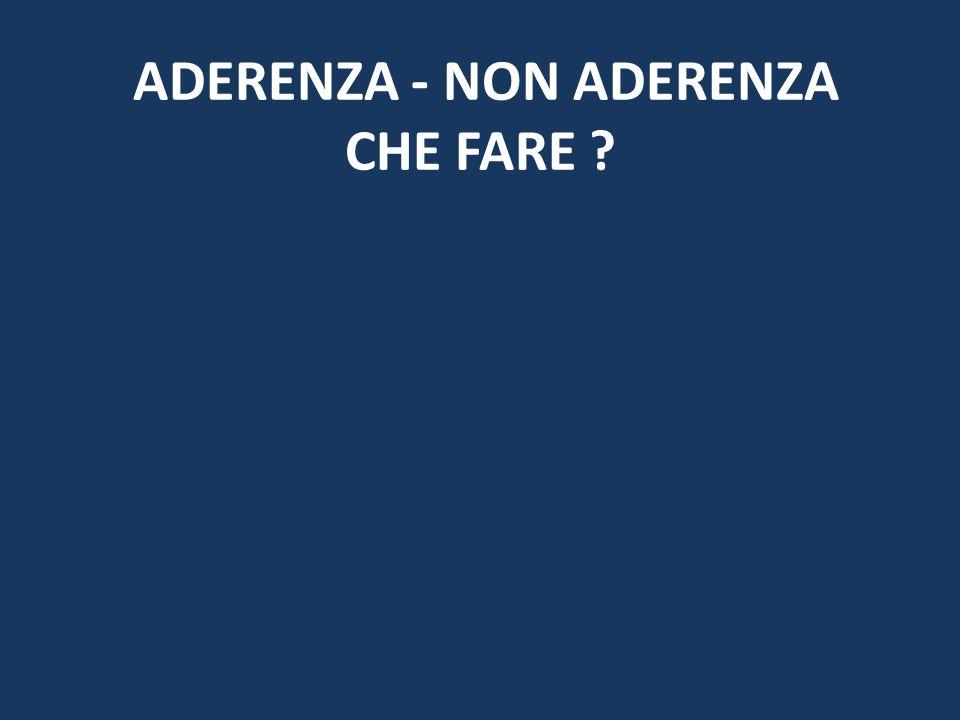 ADERENZA - NON ADERENZA CHE FARE