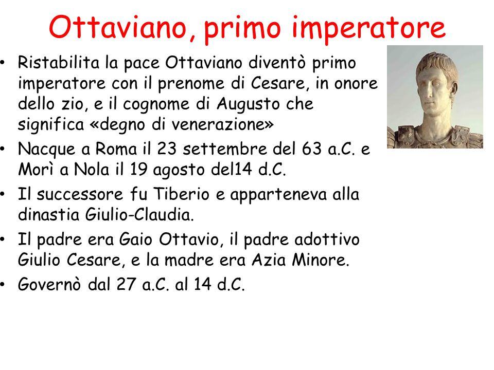 Ottaviano, primo imperatore