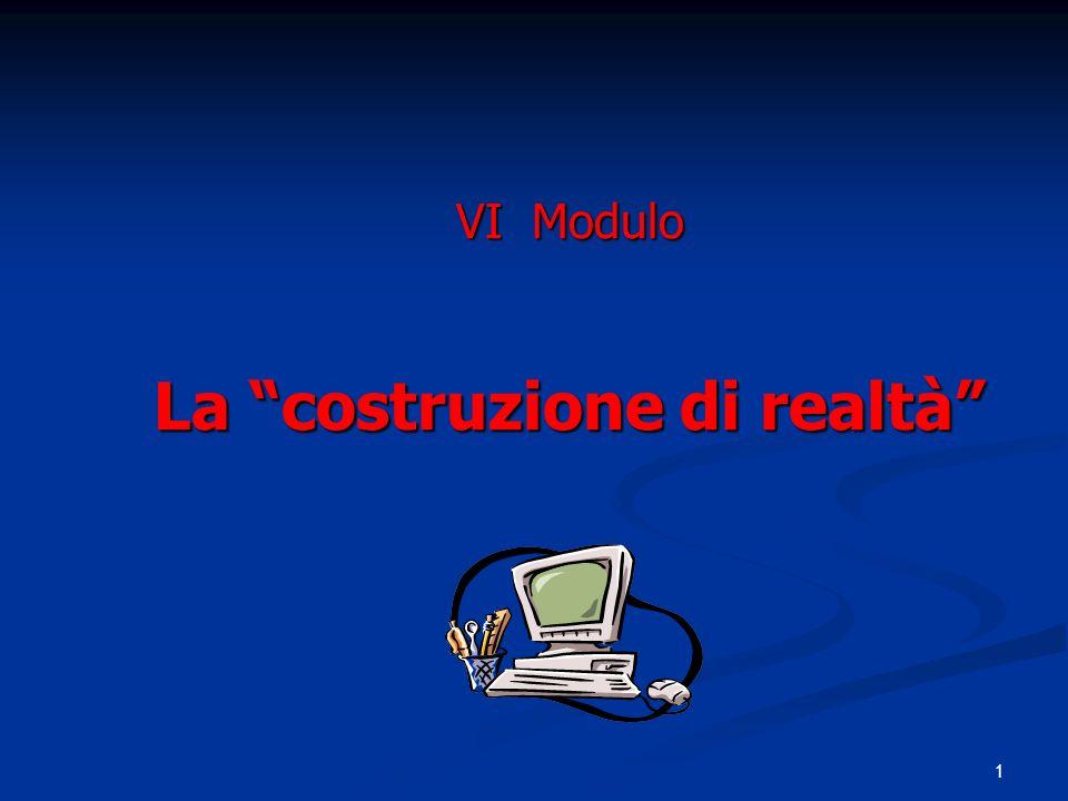 VI Modulo La costruzione di realtà