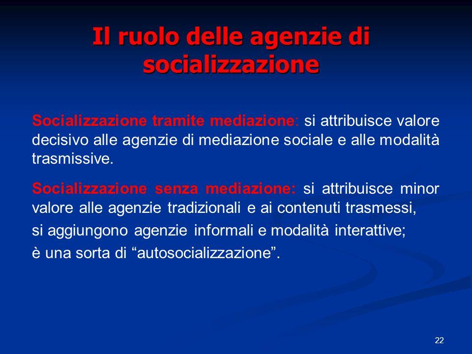 Il ruolo delle agenzie di socializzazione