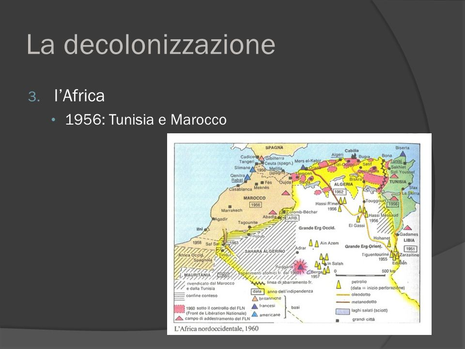 La decolonizzazione l'Africa 1956: Tunisia e Marocco