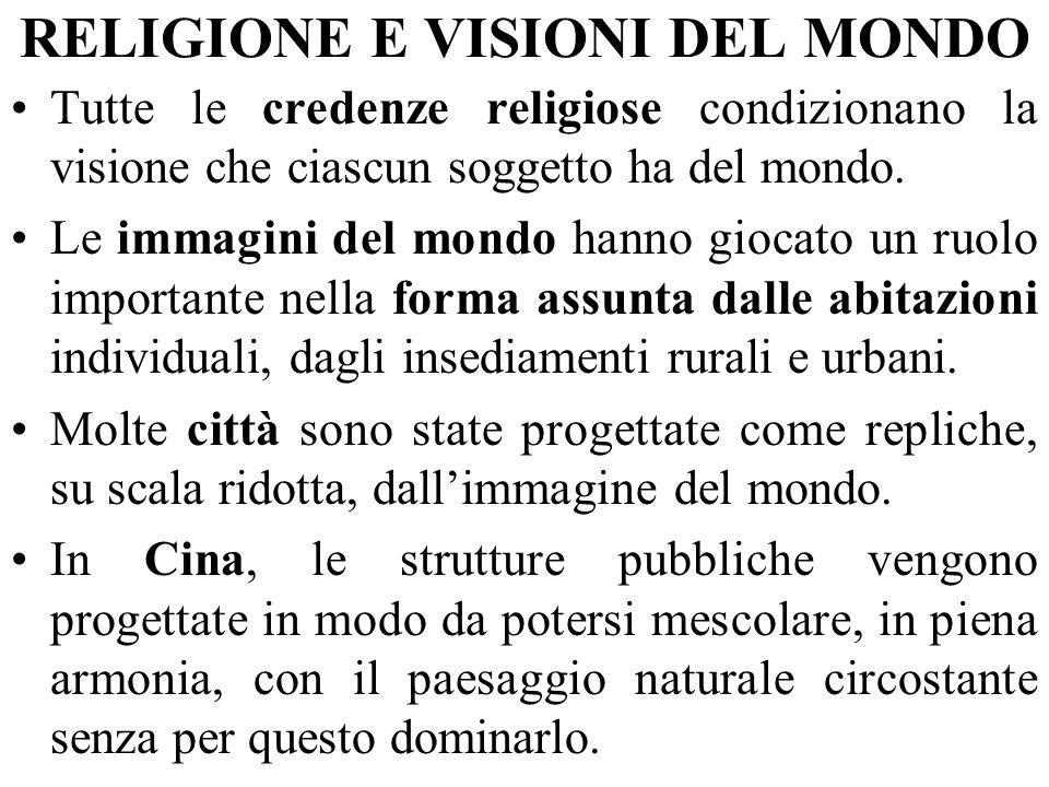 RELIGIONE E VISIONI DEL MONDO