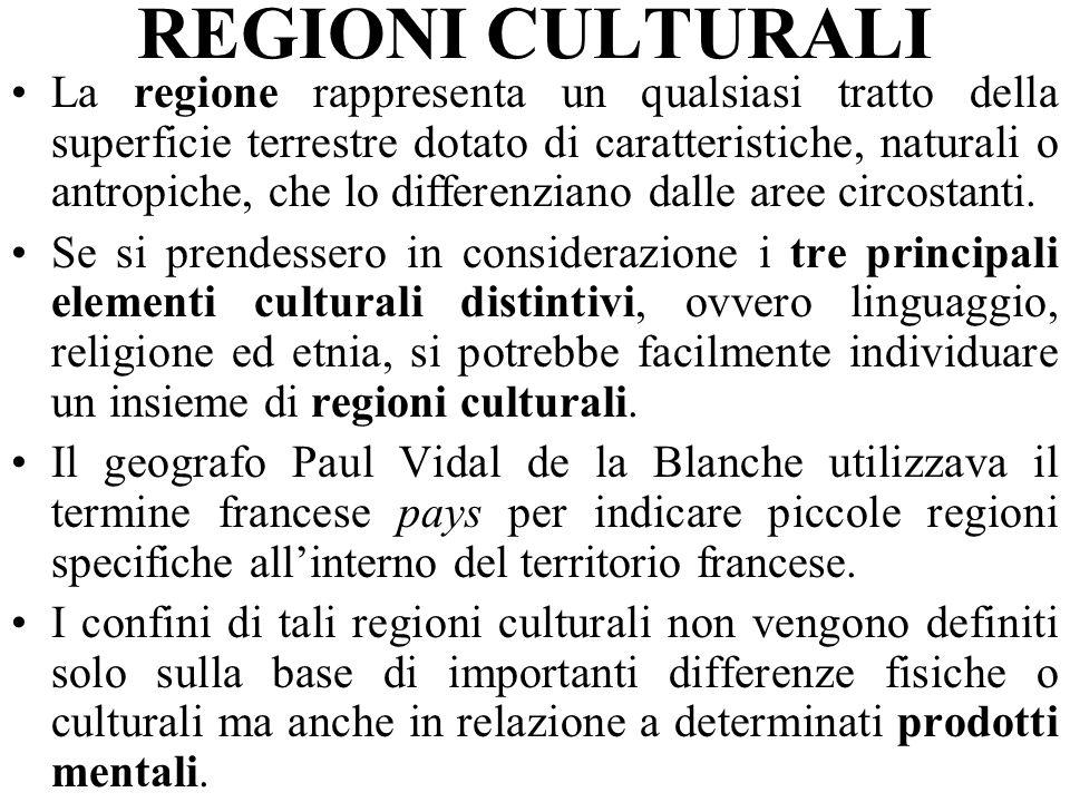 REGIONI CULTURALI