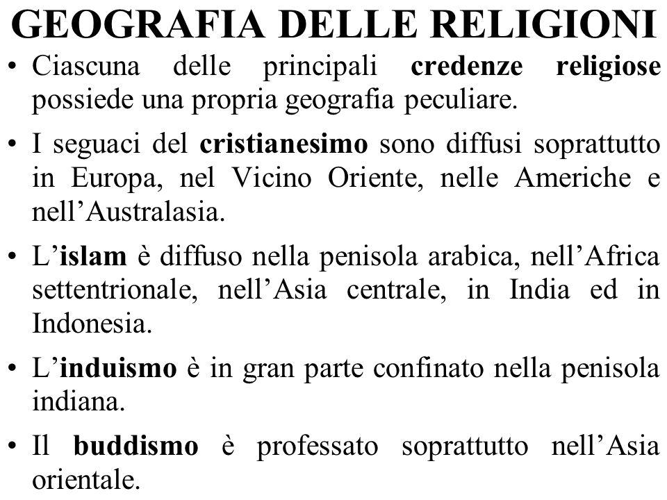 GEOGRAFIA DELLE RELIGIONI