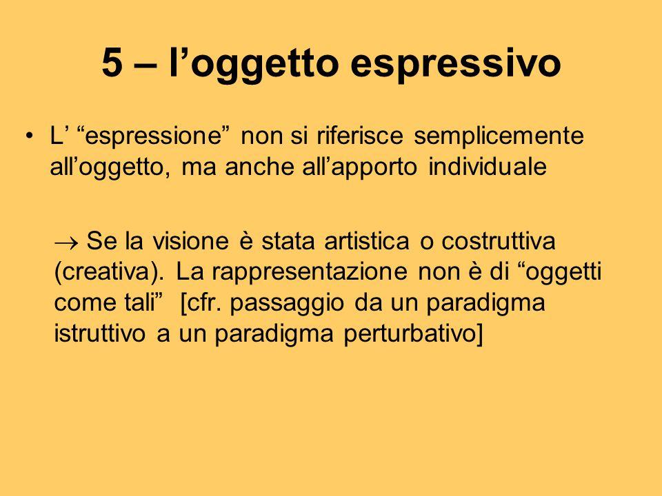 5 – l'oggetto espressivo