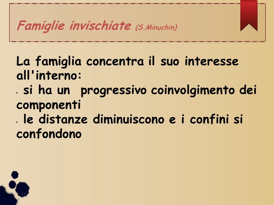 Famiglie invischiate (S.Minuchin)