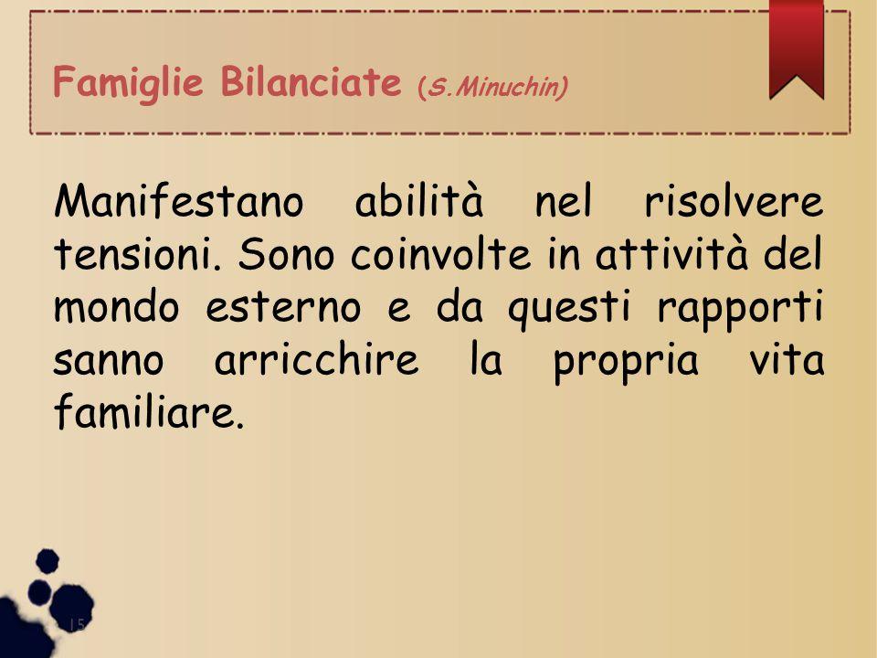 Famiglie Bilanciate (S.Minuchin)