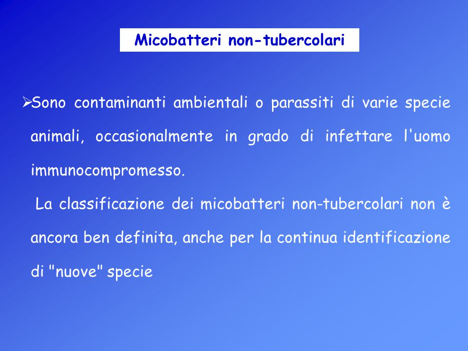 Micobatteri non-tubercolari