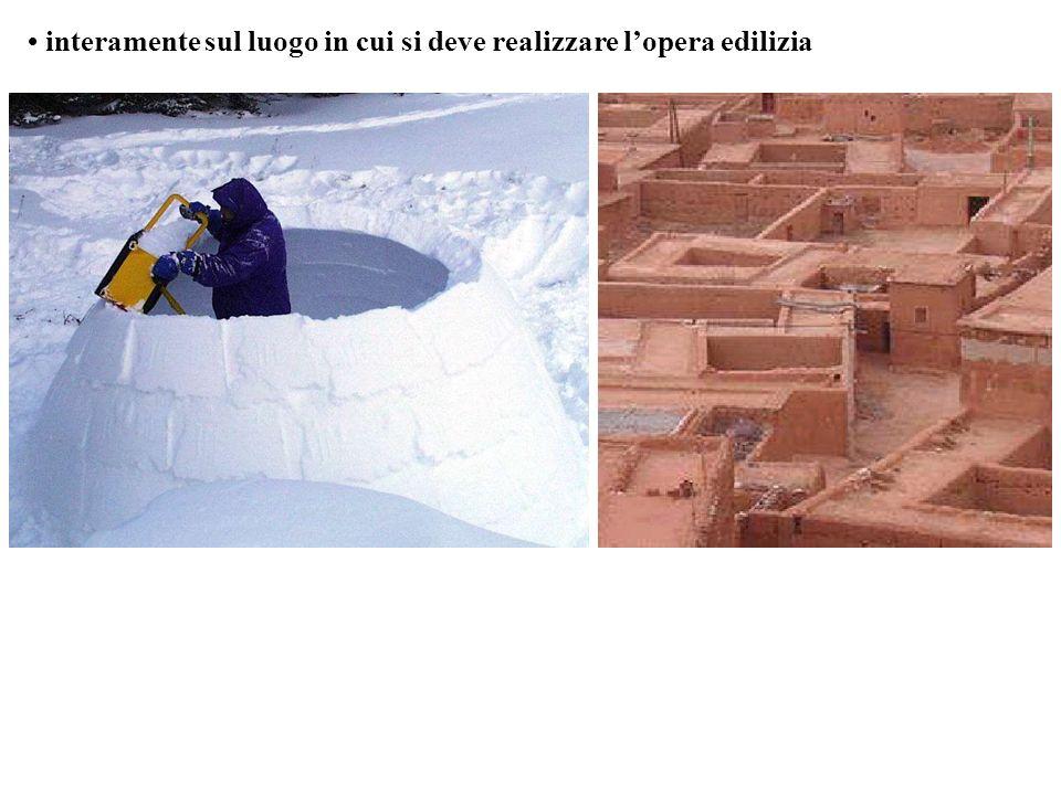 • interamente sul luogo in cui si deve realizzare l'opera edilizia
