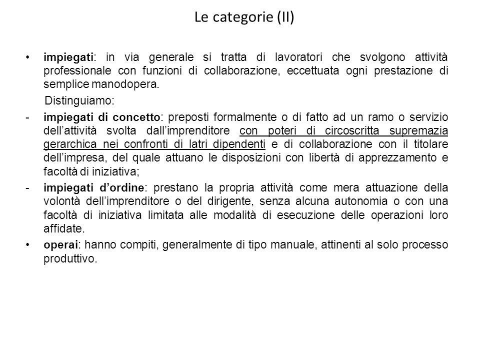 Le categorie (II)
