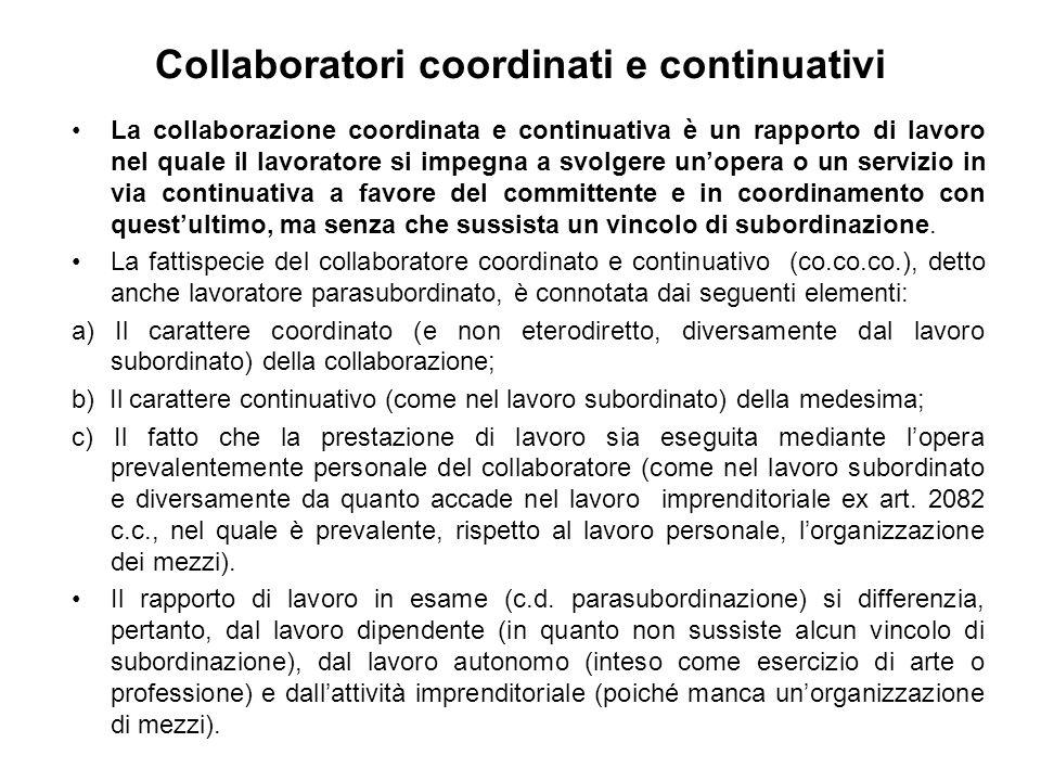 Collaboratori coordinati e continuativi