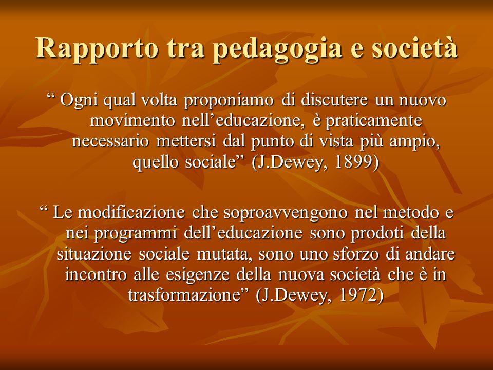 Rapporto tra pedagogia e società