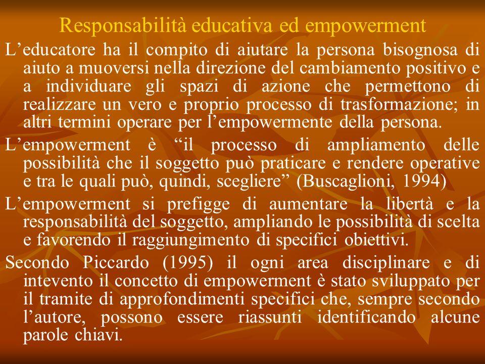 Responsabilità educativa ed empowerment