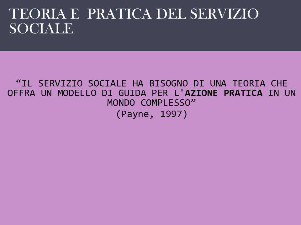 IL SERVIZIO SOCIALE COME …