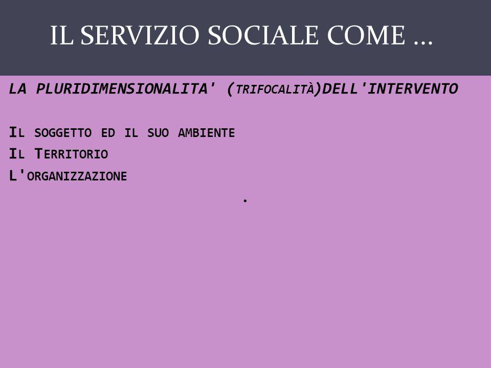 IL SERVIZIO SOCIALE COME ...