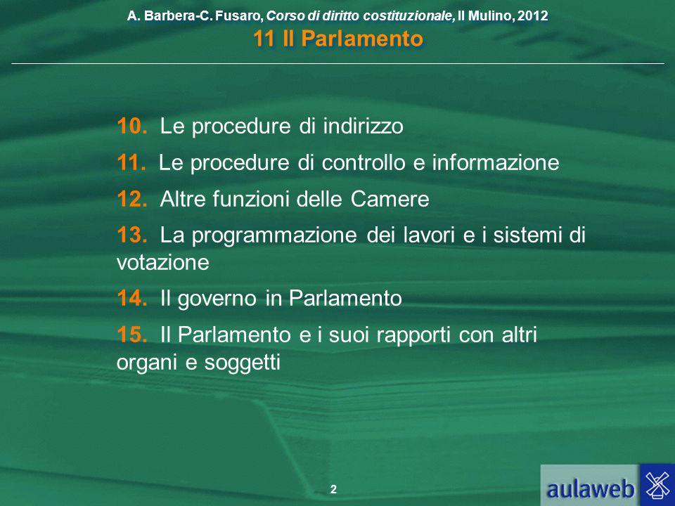 10. Le procedure di indirizzo