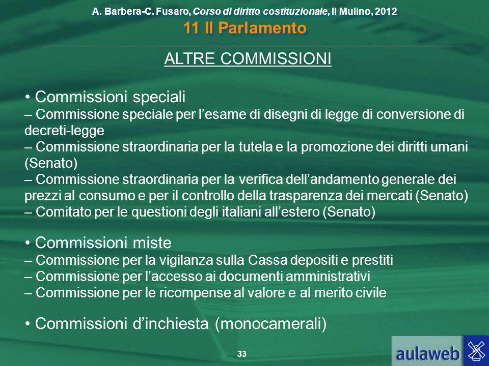 • Commissioni speciali