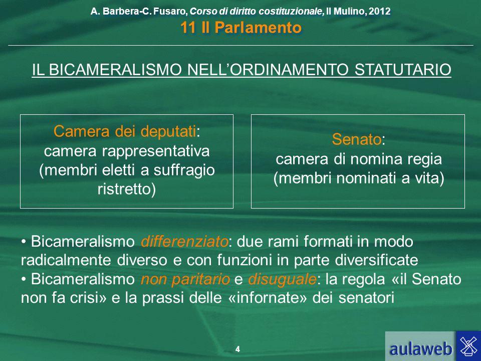 IL BICAMERALISMO NELL'ORDINAMENTO STATUTARIO