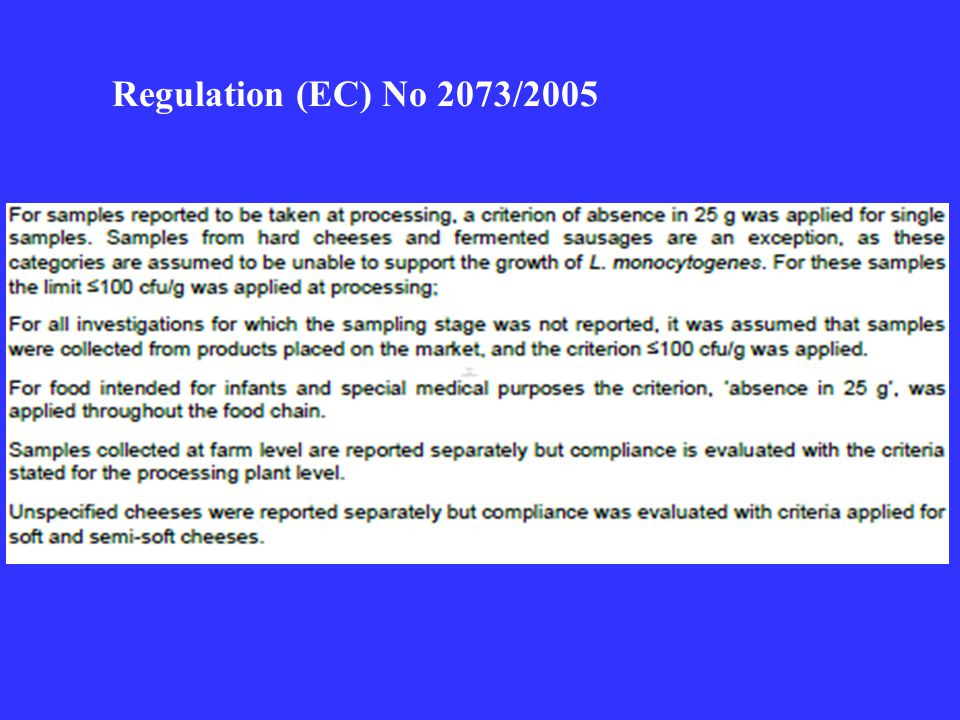 Regulation (EC) No 2073/2005