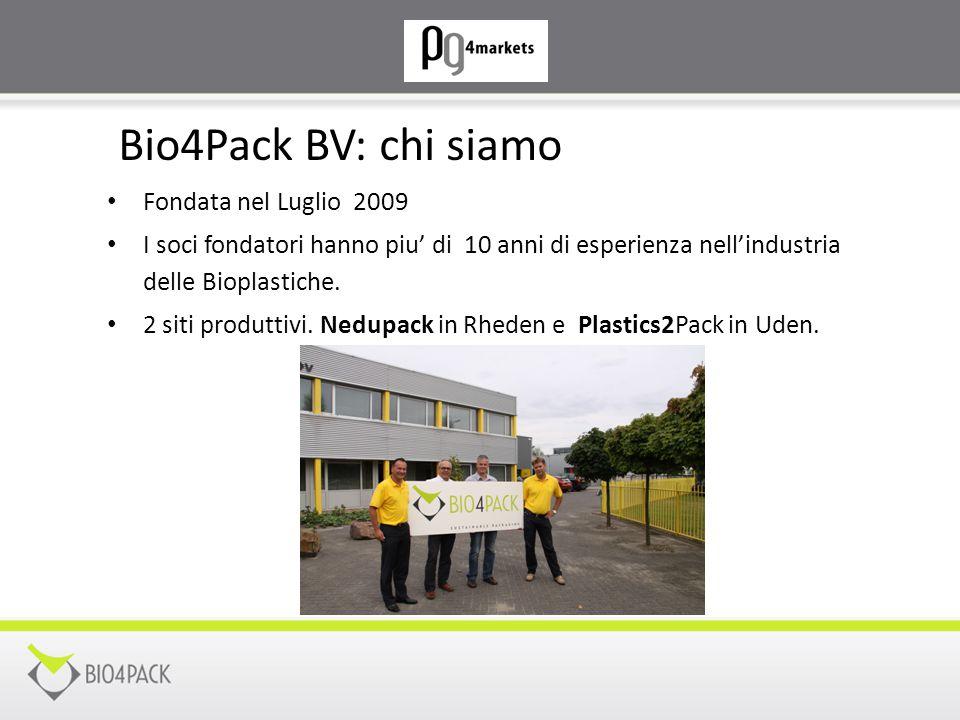 Bio4Pack BV: chi siamo Fondata nel Luglio 2009