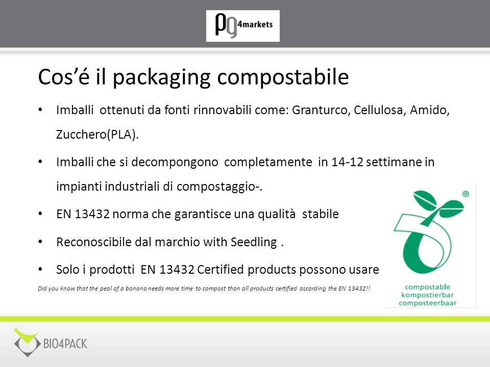 Cos'é il packaging compostabile