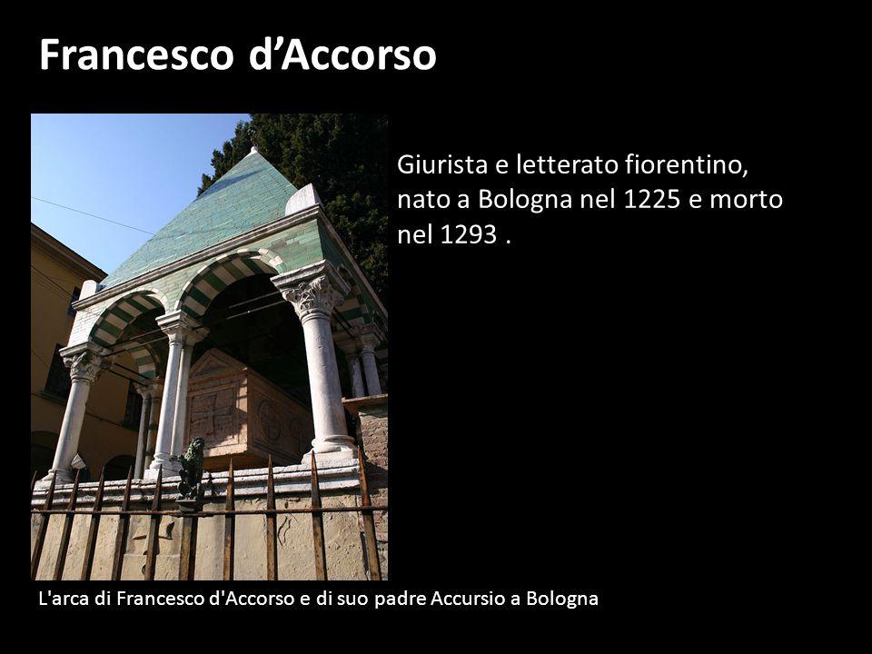 Francesco d'Accorso Giurista e letterato fiorentino,