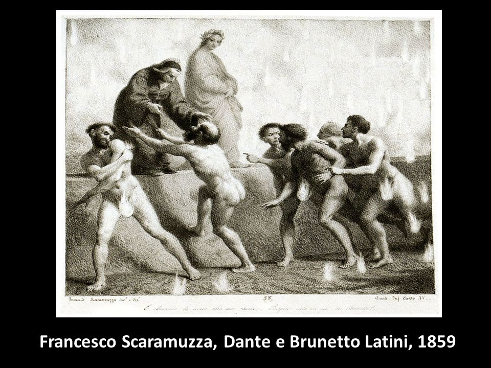 Francesco Scaramuzza, Dante e Brunetto Latini, 1859