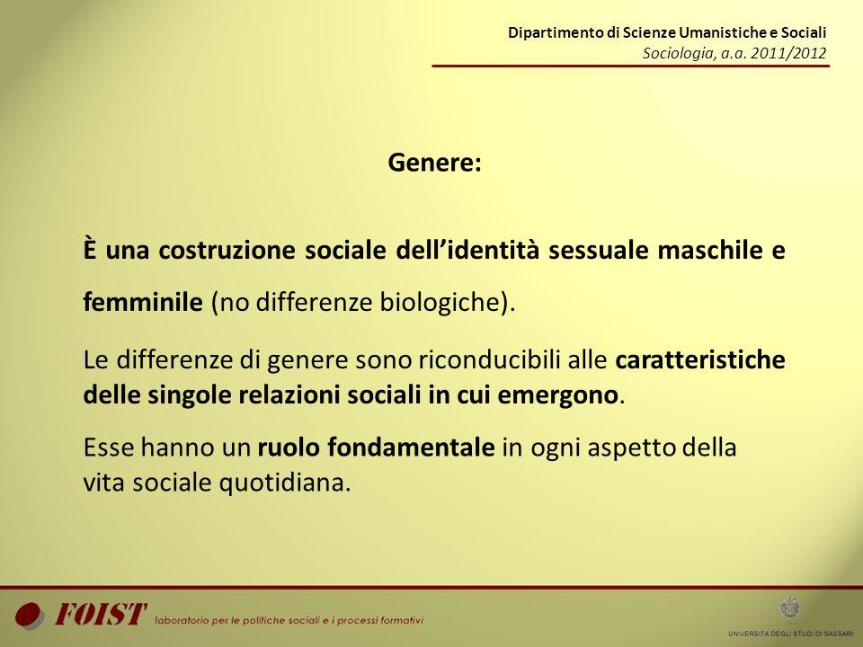 Dipartimento di Scienze Umanistiche e Sociali