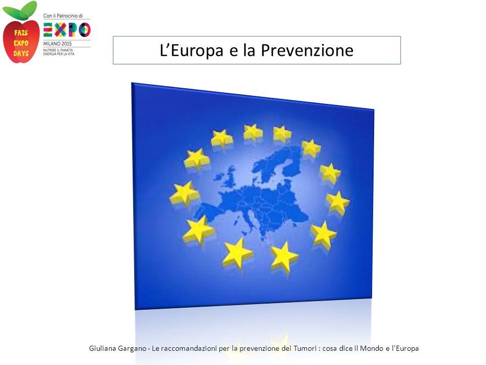 L'Europa e la Prevenzione
