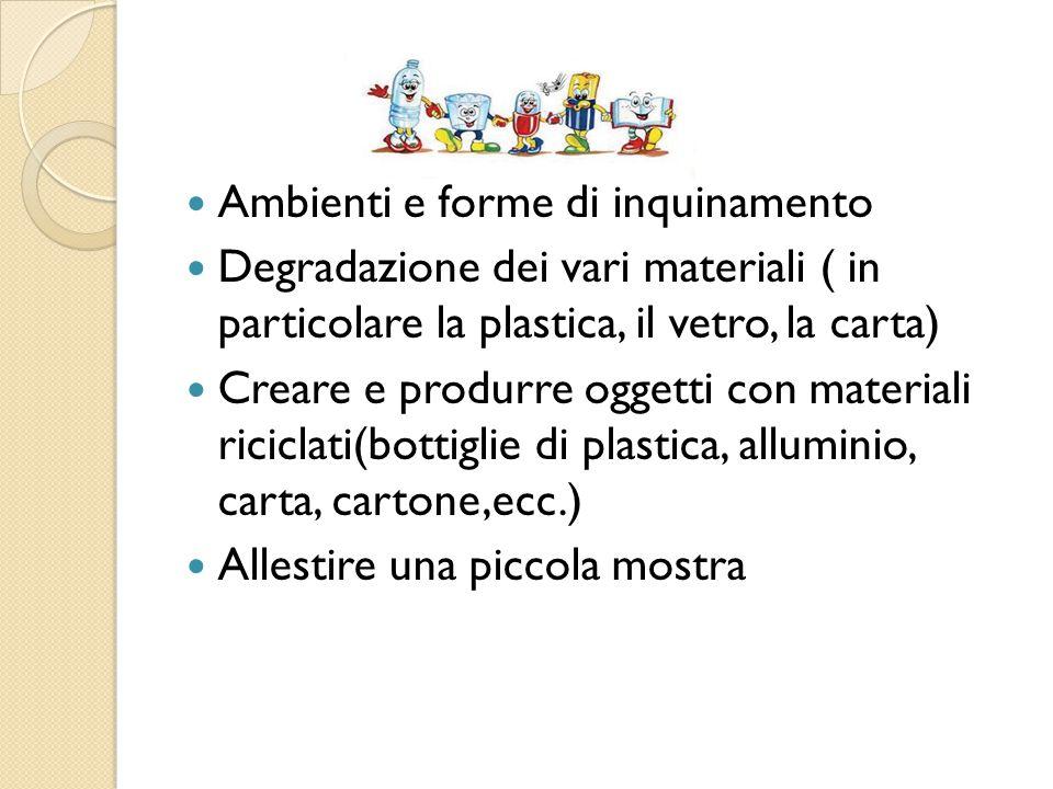 Ambienti e forme di inquinamento