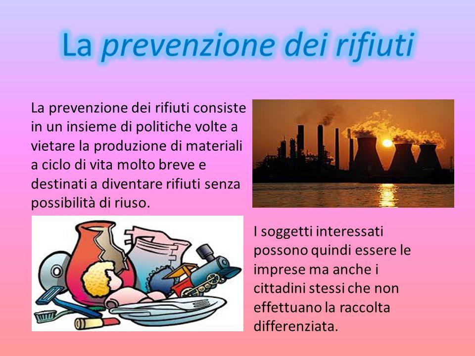 La prevenzione dei rifiuti
