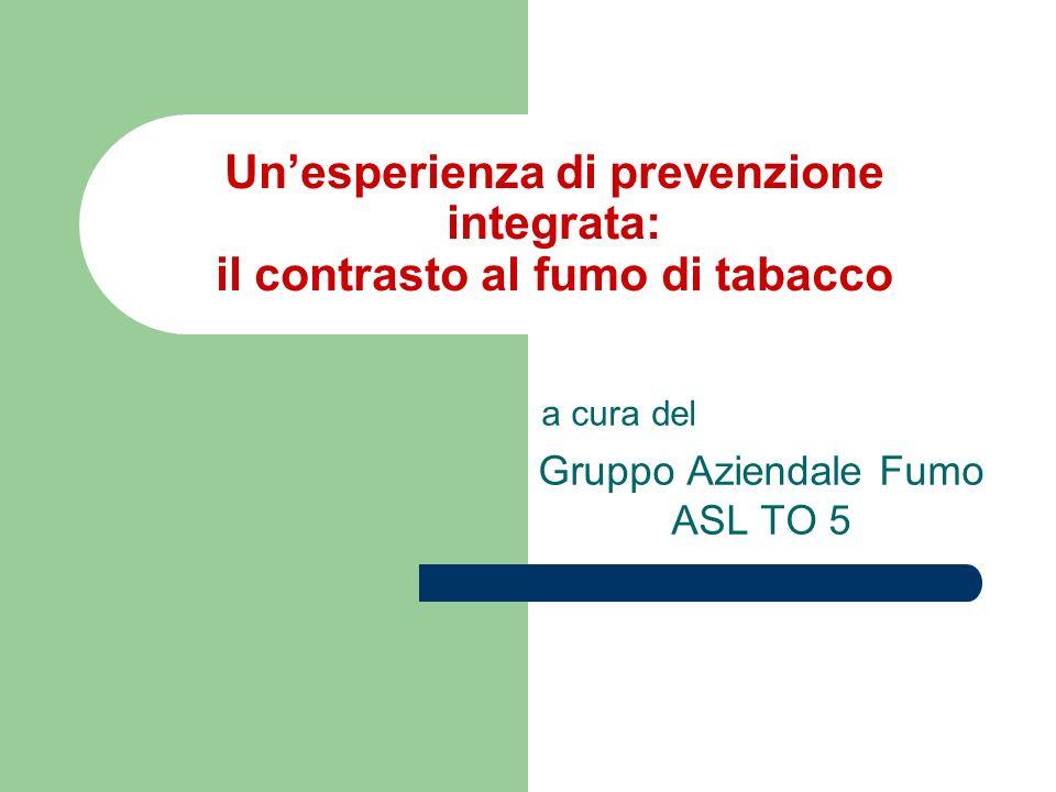 a cura del Gruppo Aziendale Fumo ASL TO 5