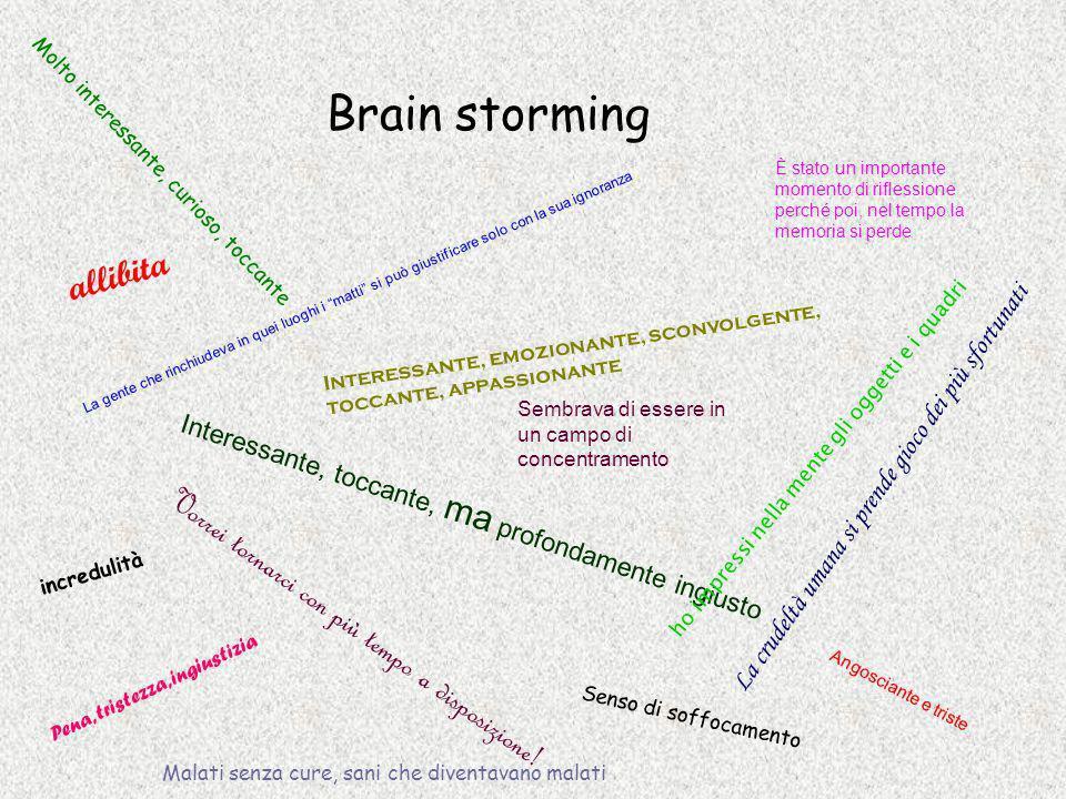 Brain storming allibita Vorrei tornarci con più tempo a disposizione!