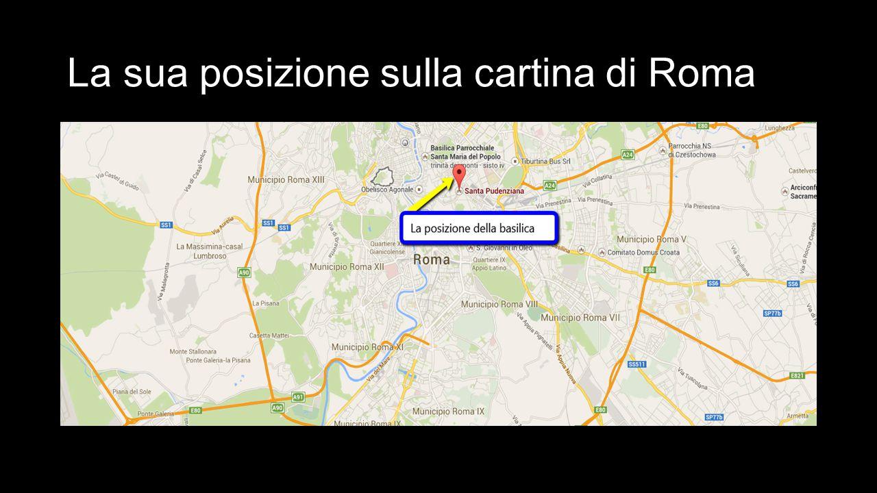La sua posizione sulla cartina di Roma