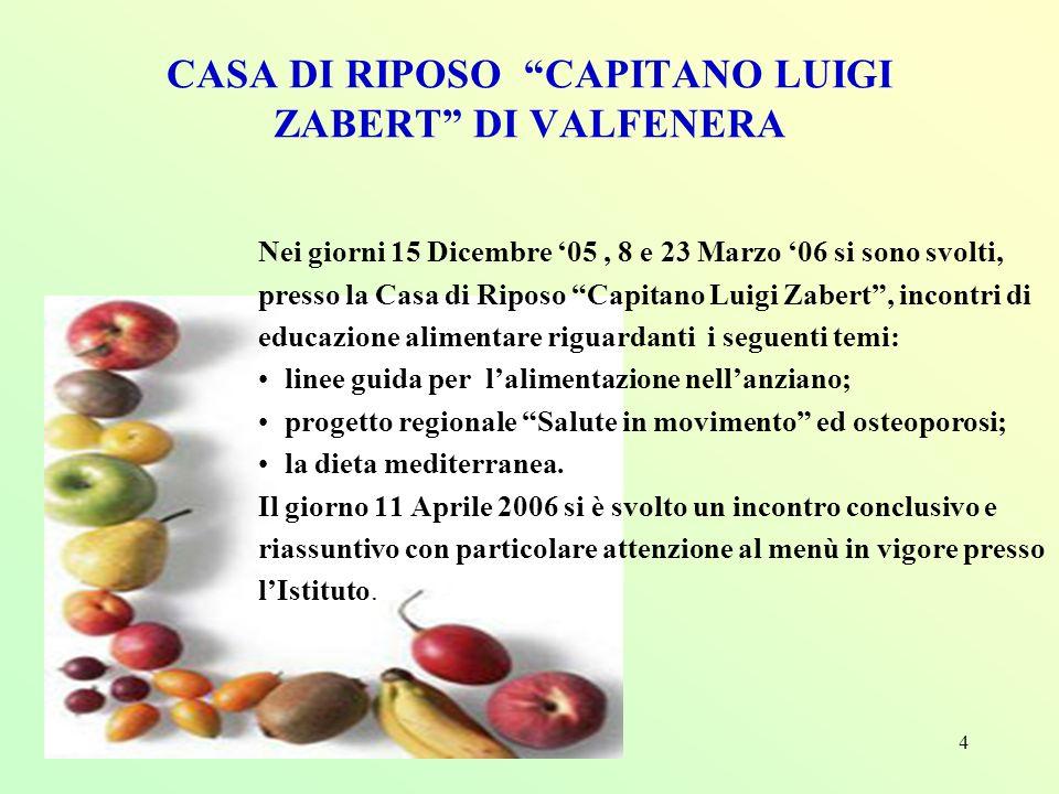 CASA DI RIPOSO CAPITANO LUIGI ZABERT DI VALFENERA