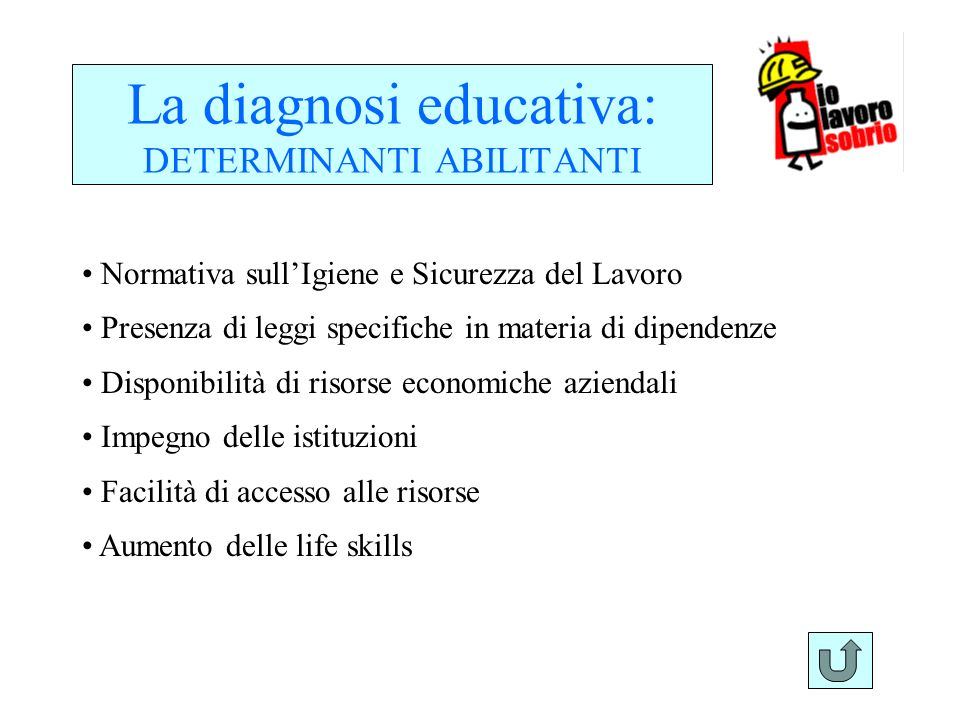 La diagnosi educativa: DETERMINANTI ABILITANTI