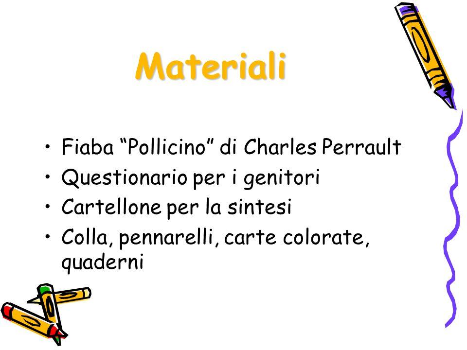 Materiali Fiaba Pollicino di Charles Perrault