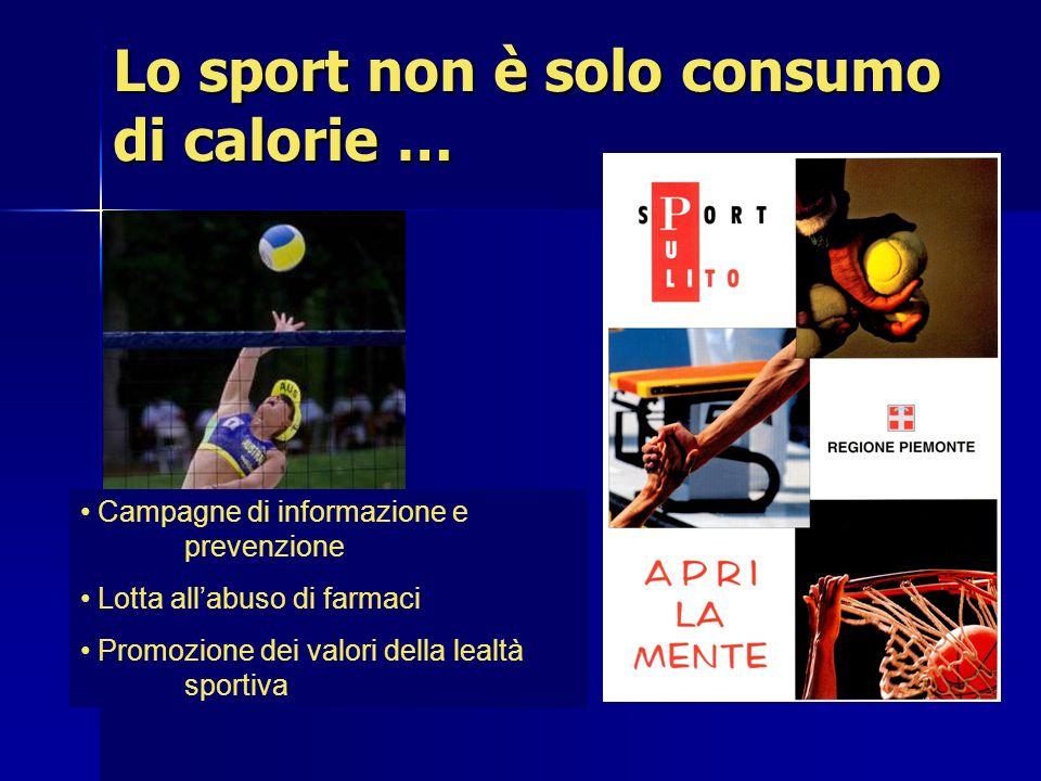 Lo sport non è solo consumo di calorie …