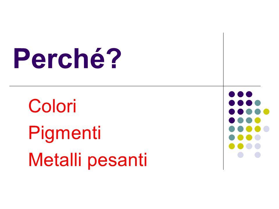 Colori Pigmenti Metalli pesanti