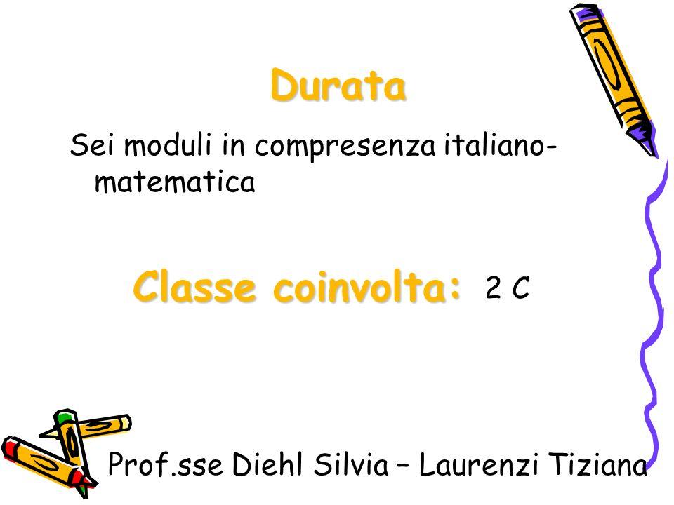 Durata Classe coinvolta: