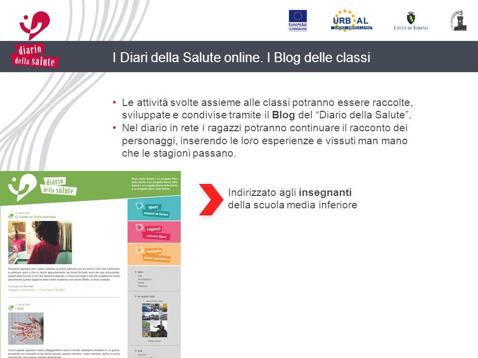 I Diari della Salute online. I Blog delle classi