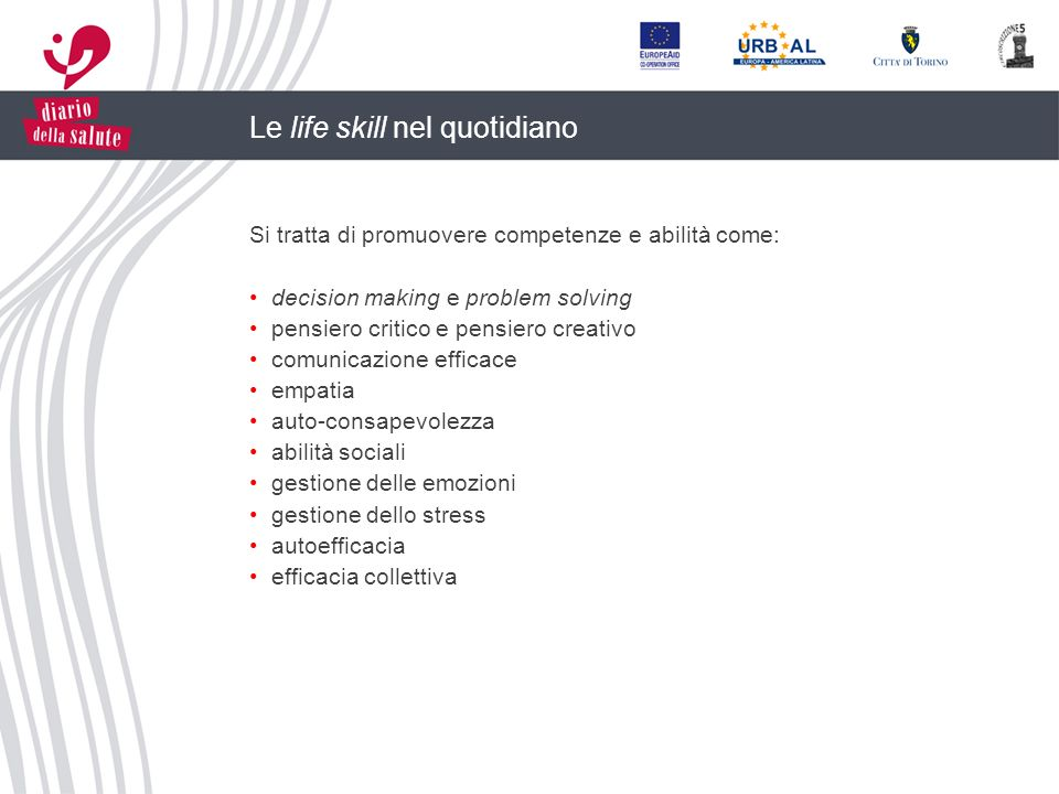 Le life skill nel quotidiano