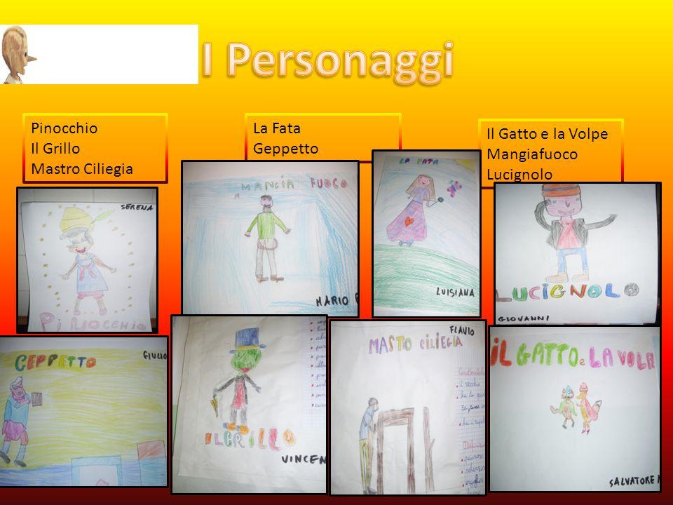 I Personaggi Pinocchio Il Grillo Mastro Ciliegia La Fata Geppetto