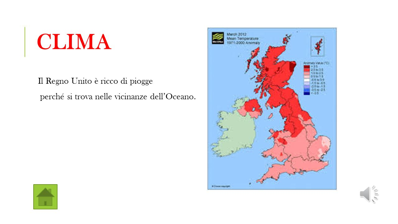 Clima Il Regno Unito è ricco di piogge