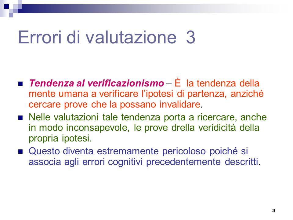 Errori di valutazione 3