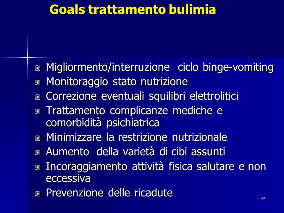 Goals trattamento bulimia